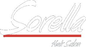 Sorella Hair Salon logo in white