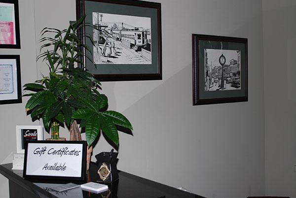 Photos on the wall of Sorella Hair Salon