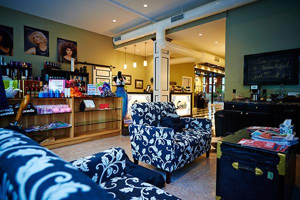 Waiting area at Sorella Hair Salon