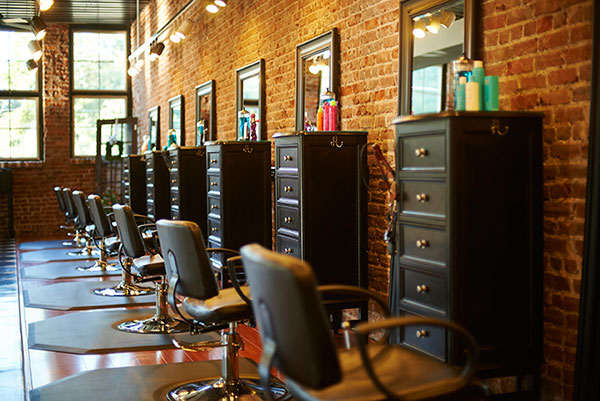 line of chairs at Sorella Hair Salon
