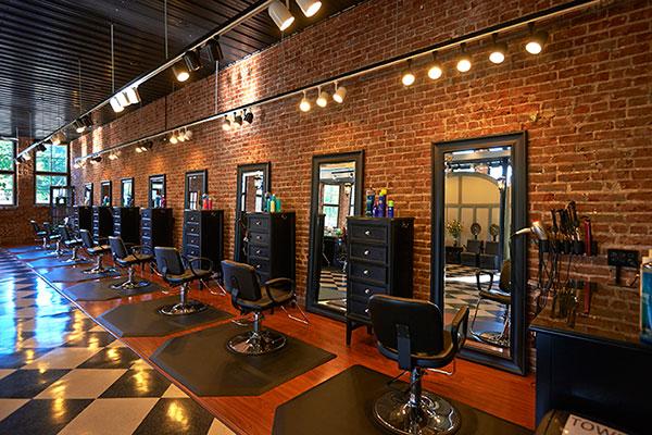 hair styling stations at Sorella Hair Salon