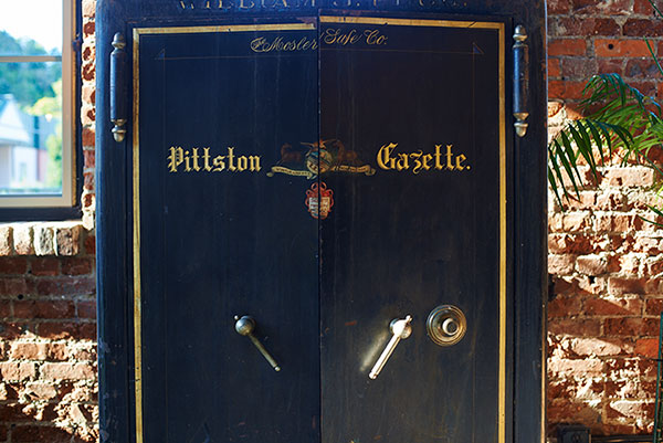 Pittston Gazette vault at Sorella Hair Salon