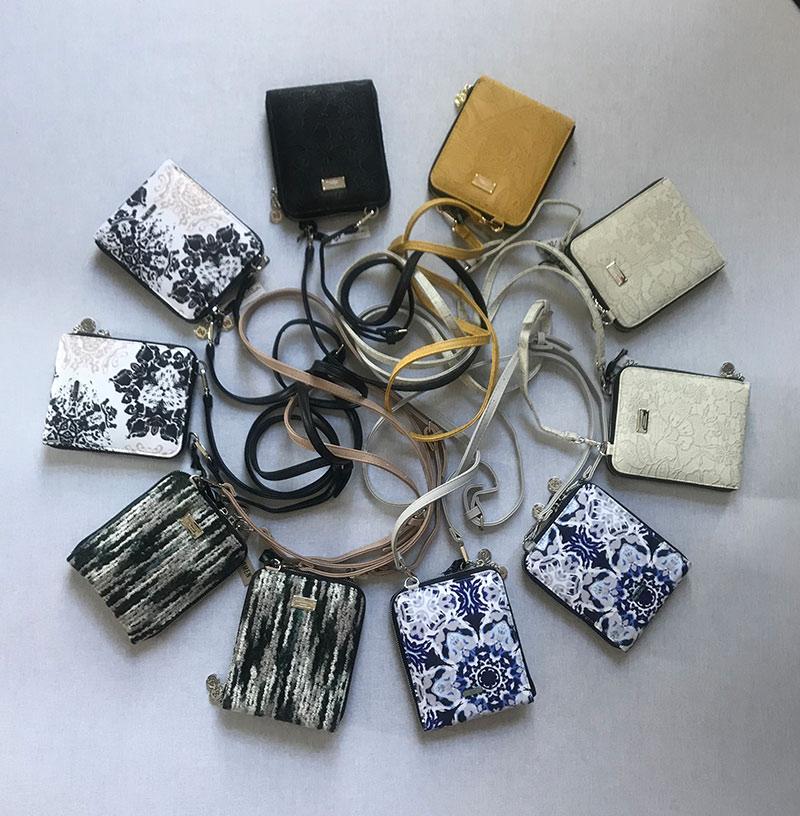 a circle of purses